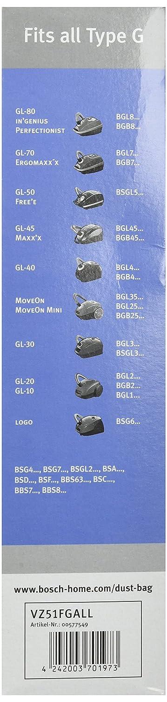 Bosch VZ51FGALL Sacchetti per aspirapolvere