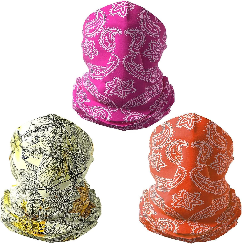 Seamless Face Mask Bandana Scarf - Bandanas for Women and Men, Neck Gaiter Masks