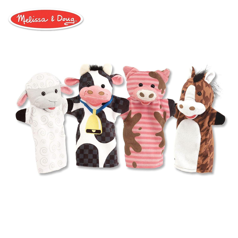 ffd1139a2 Amazon.com: Melissa & Doug Farm Friends Hand Puppets: Melissa & Doug: Toys  & Games