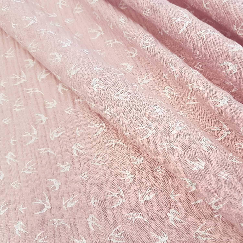 Tela de muselina de algodón, color rosa pastel, para envolver al bebé, a un precio por metro: Amazon.es: Juguetes y juegos