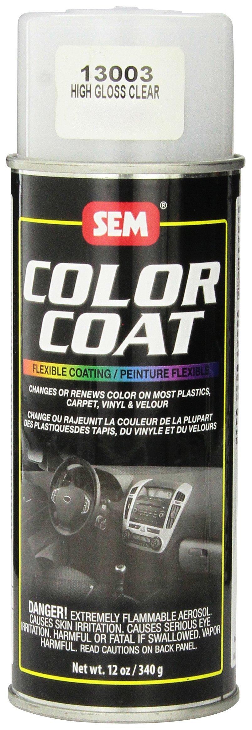 SEM 13003 High Gloss Clear Color Coat Aerosol - 12 oz.