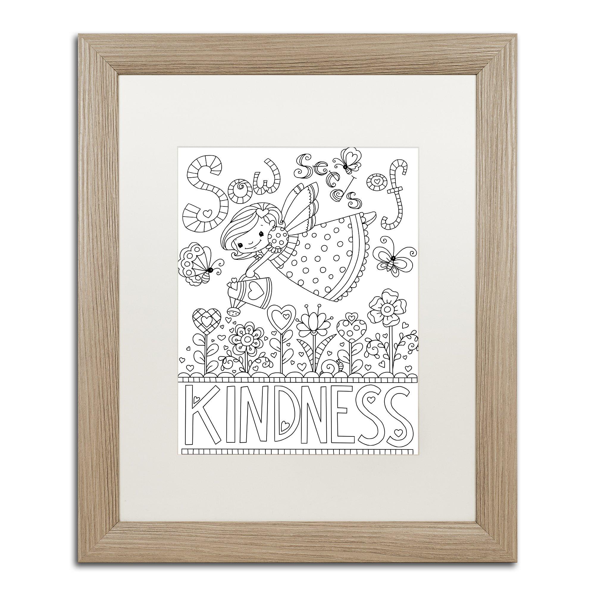 Sow Seeds by Jennifer Nilsson, White Matte, Birch Frame 16x20-Inch by Trademark Fine Art