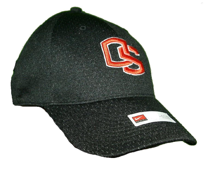 0c94f0b53 Amazon.com: Nike Oregon State Beavers Fitted Jersey Baseball Cap Black  Orange: Clothing