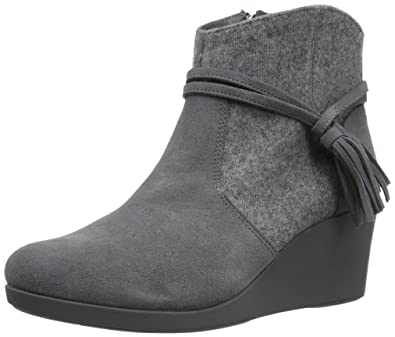 aa805991926 Crocs Womens Leigh Suede Mix Bootie Shoes