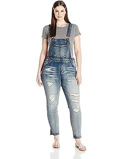 70036d2c15 Amazon.com  dollhouse Women s Size Skyline Plus Overall  Clothing