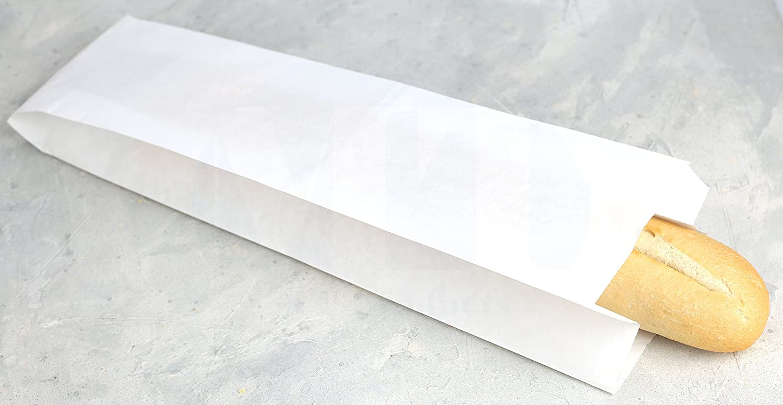 5/1//4/x 3/1//4 x 18/y de color blanco papel bolsa para el pan por mt productos/ 50/piezas /