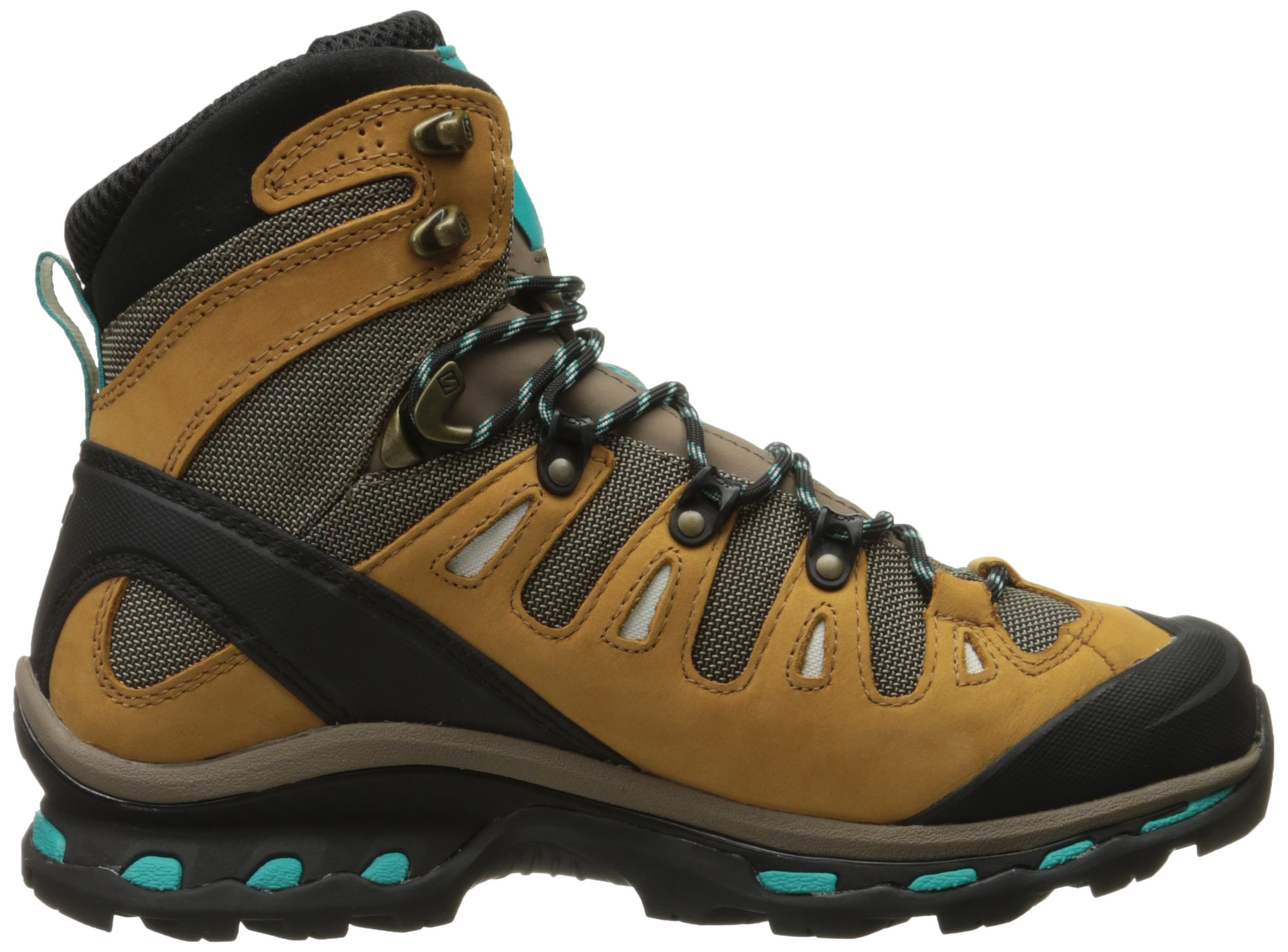 Salomon Women's Quest 4d 2 Gtx W Backpacking Boot, Shrew/Camel Gold Leather/Teal Blue Fabric, 8.5 M US by Salomon (Image #7)