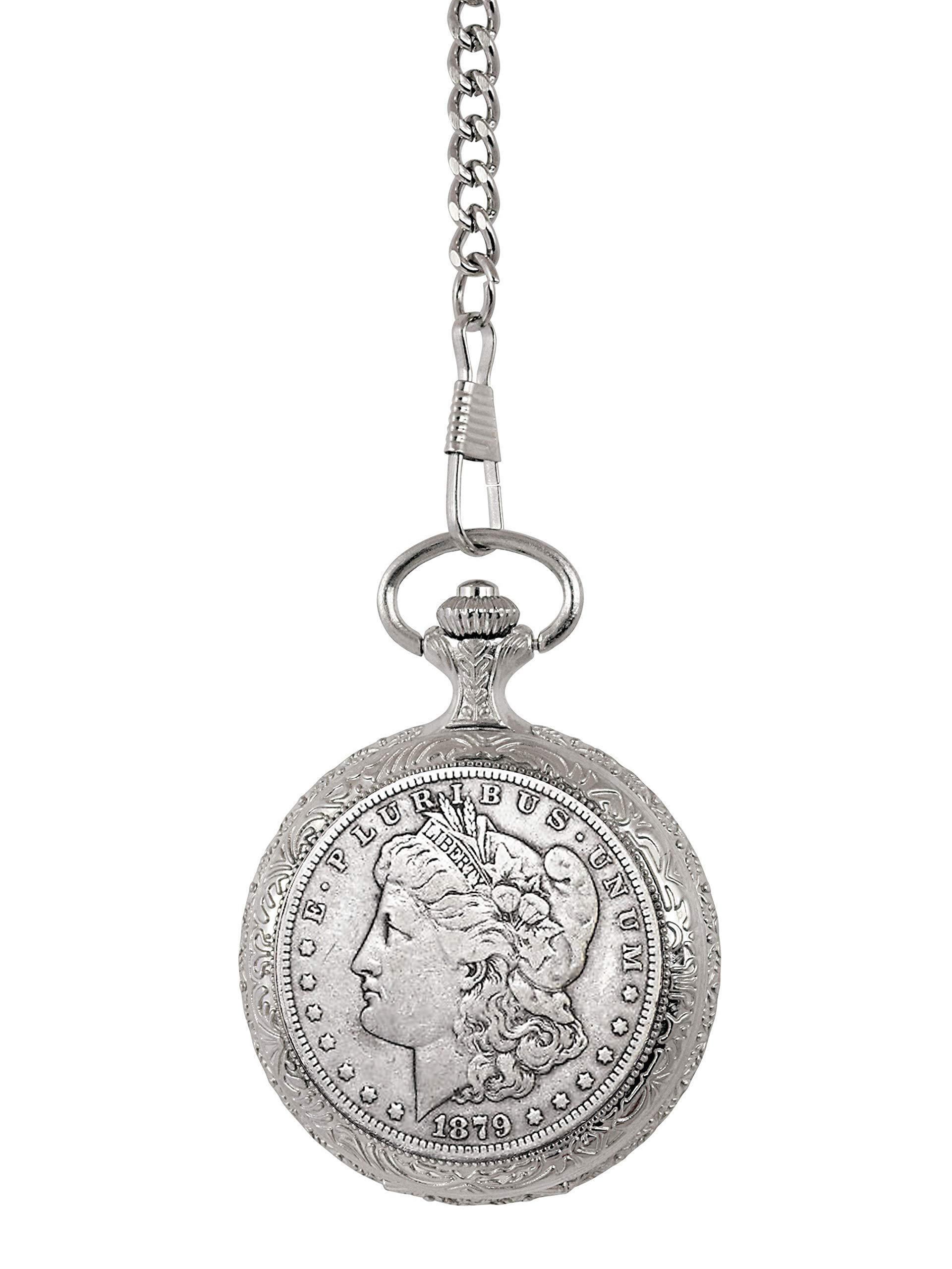 1800's Morgan Silver Dollar Pocket Watch