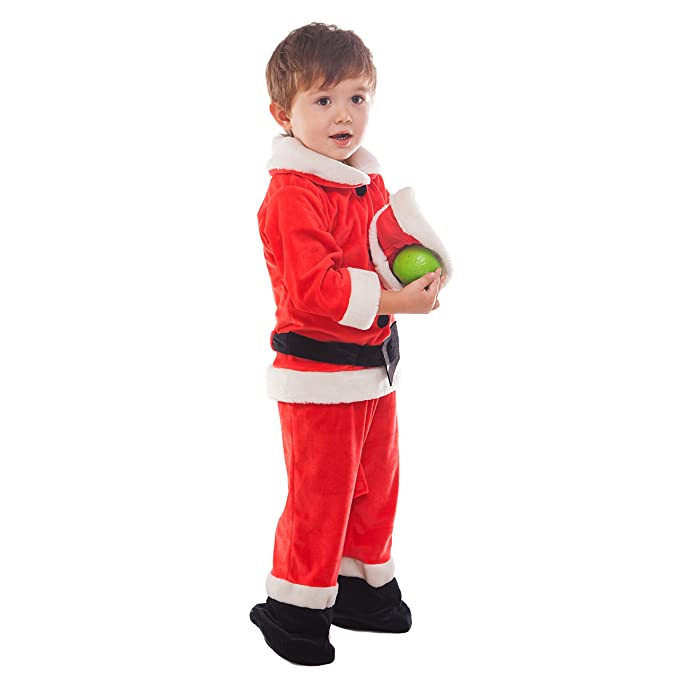 2e10bcb0b Amazon.com: WEWILL Unisex Christmas Costume Santa Claus Suit Infant Xmas  Outfit Set (0-1 Age): Toys & Games
