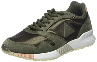 d2d219b40076 Le Coq Sportif Women s Omega X W Sport Olive Night Dusty Coral Trainers