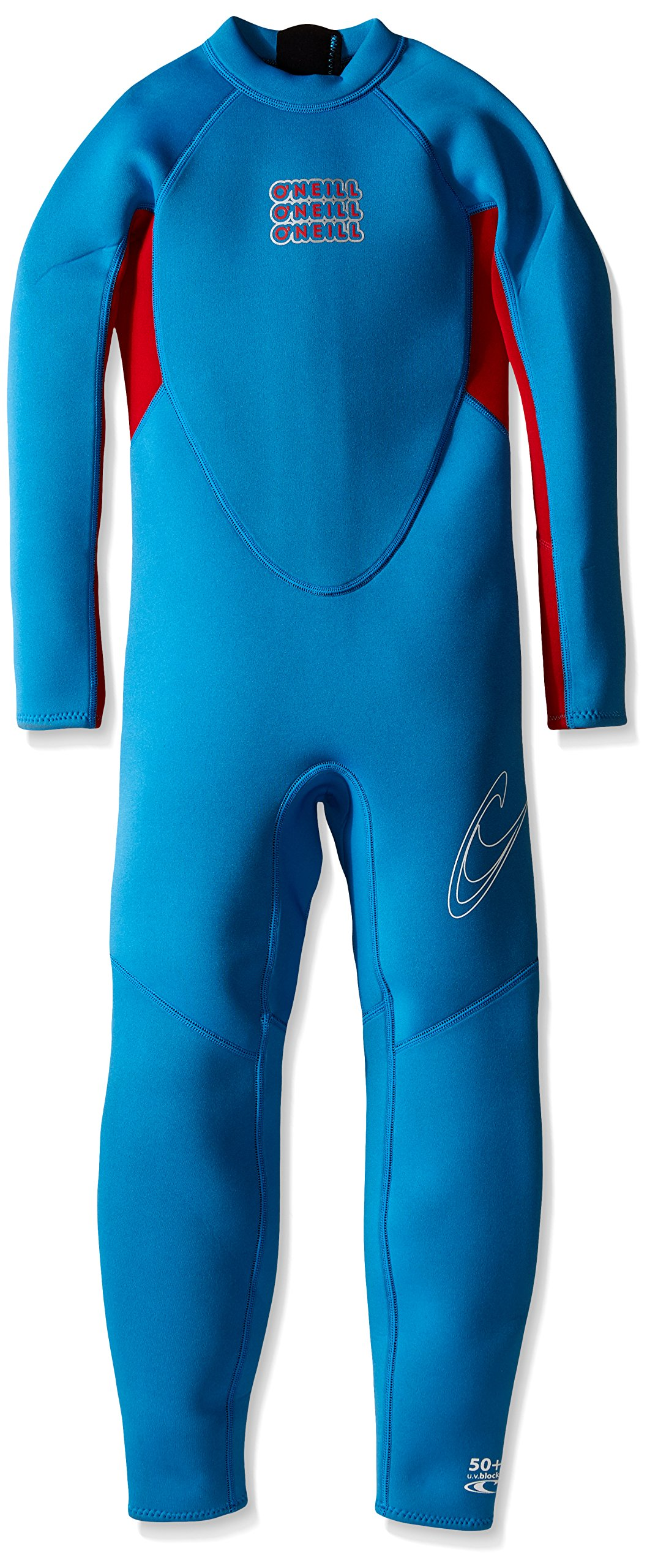 O'Neill Wetsuits Youth/Toddler Reactor Full Wetsuit, Brite Blue/Red, 2mm/Size 6