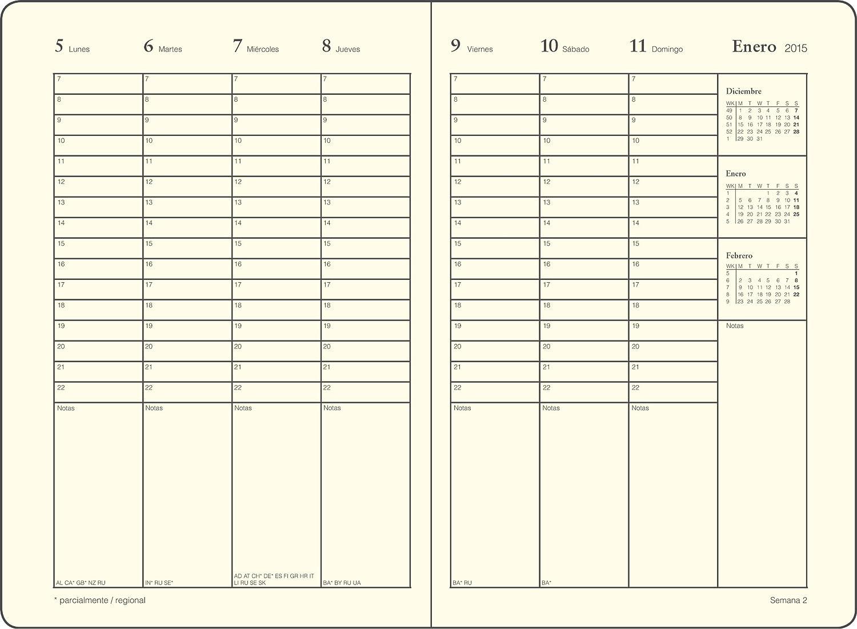 Leuchtturm1917 345446 Español - Agenda semanal, A6, 12 Meses ...