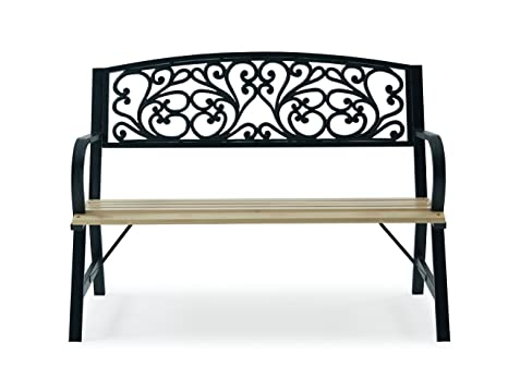 Surprising Livivo Cast Iron Wood Fancy Floral Garden Bench With Gmtry Best Dining Table And Chair Ideas Images Gmtryco