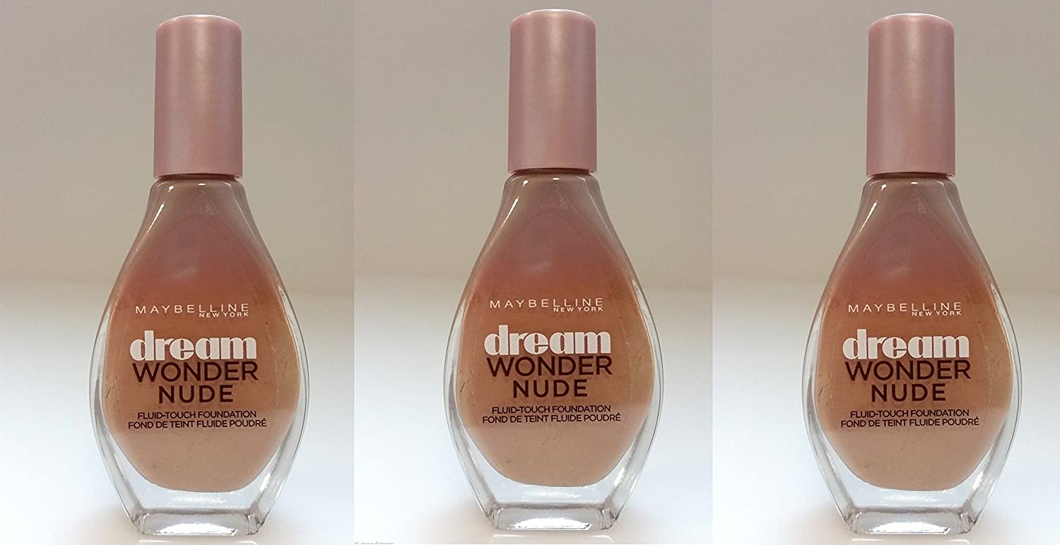 3x Maybelline Dream Wonder Nude Foundation Make Up 20 Cameo 20ml Neu