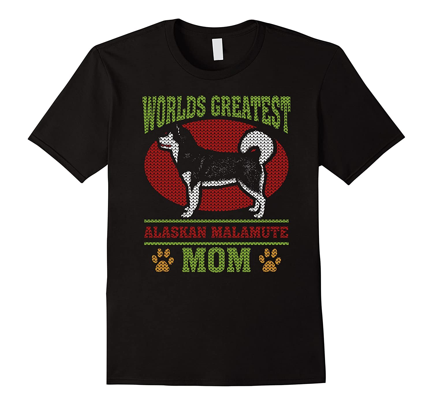 Worlds Greatest Alaskan Malamute Mom Dog Lover 2 T-shirt-CL
