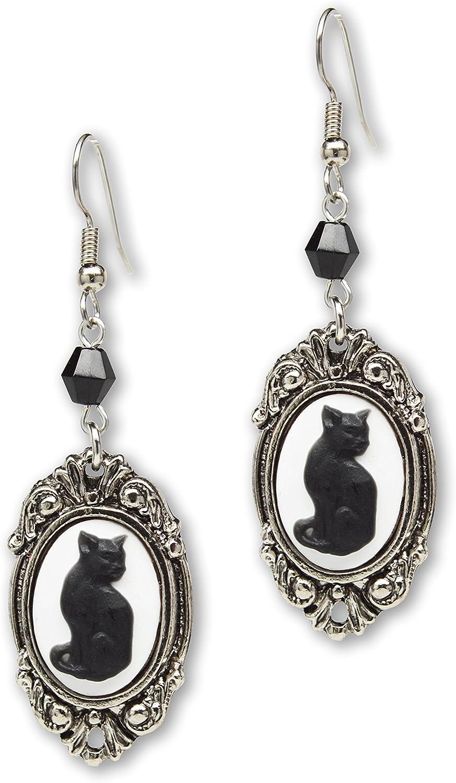 Halloween earrings,Witch/'s Cat earrings,Cat earrings,Halloween Cat earrings,Black Cat earrings,evil cat earrings,Halloween costume earrings