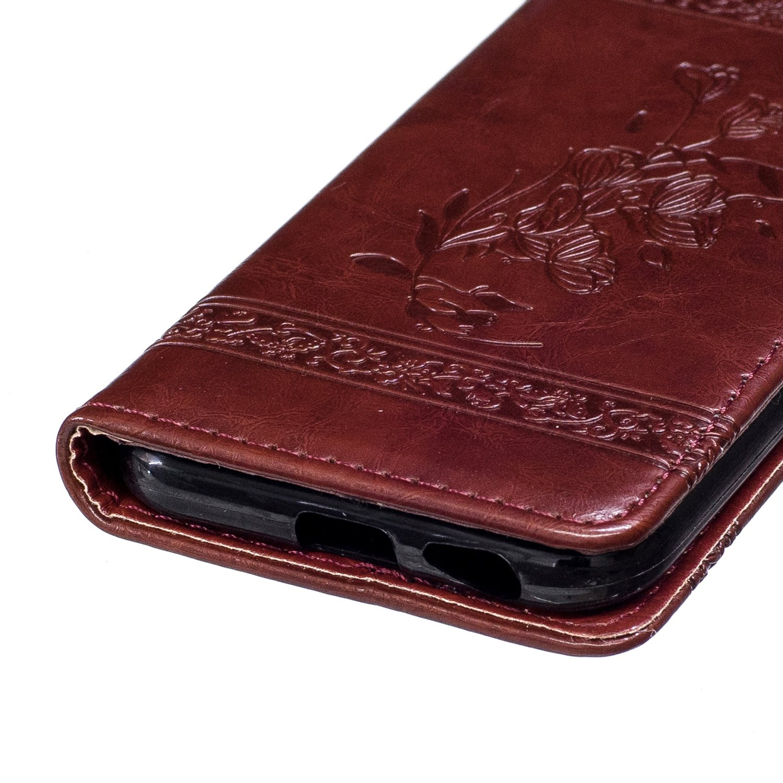 Coque Samsung Galaxy A5 vin rouge vin rouge Portefeuille Etui Housse de Protection avec Stand Support Avec des Cartes de Cr/édit Slot et Fonction Support 2016 SM-A510F Ecoway Retro /étui en cuir PU