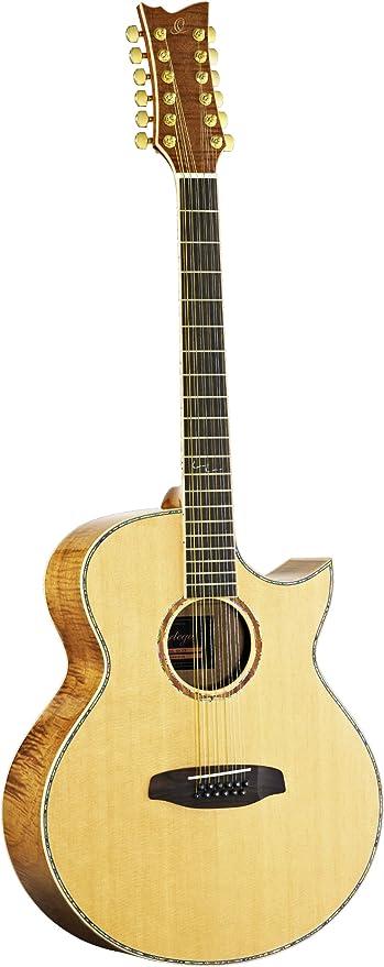 Ortega OPAL-4012CE - Guitarra acústica, 12 cuerdas: Amazon.es ...