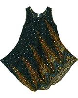 Pikulla Half Moon Sleeveless Women's Peacock Gypsy Sundress Multicoloured X-Large