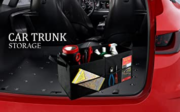 Fold Away Car Trunk Organizer Black 22 X 10 X 11 Non Slip Fastener Secures To Your Trunk And Prevents Sliding Prevent Items Like Auto