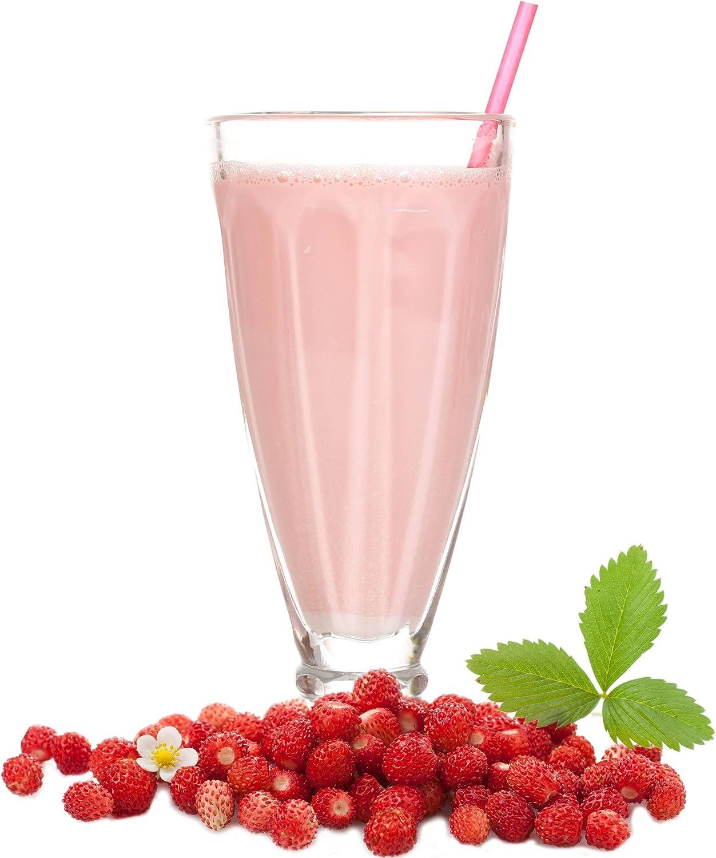 Leche con sabor a fresa de bosque en polvo Gino Gelati para batidos de leche Selbermachen (1 kg)