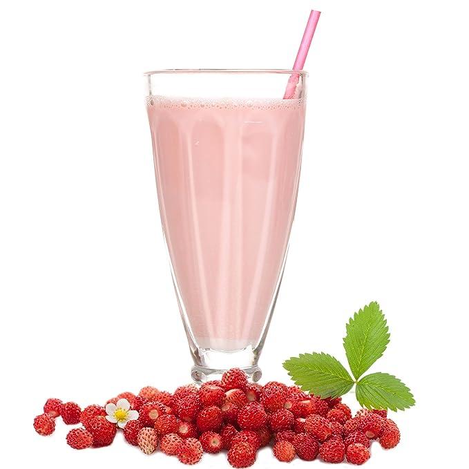 Leche con sabor a fresa de bosque en polvo Gino Gelati para batidos de leche Selbermachen