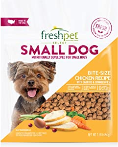 Freshpet Healthy & Natural Food for Small Dogs/Breeds, Fresh Grain Free Chicken Recipe, 1lb