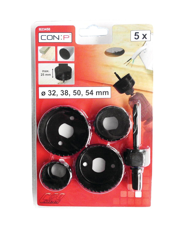 Con:P B23450 5 piezas Juego de sierras de corona