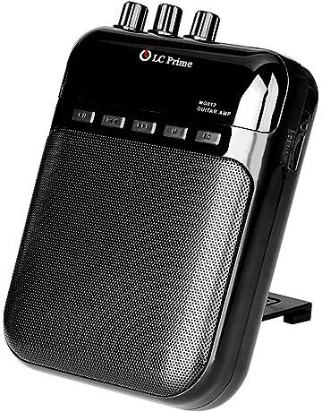 LC Prime Mini Amplificador Guitarra Altavoz Portátil, Grabador y Reproductor de MP3 - Batería Recargable