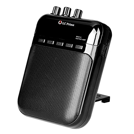 amazon com aroma guitar amp mini portable clip amplifier speakeraroma guitar amp mini portable clip amplifier speaker recorder 2 in 1 chargeable w tf