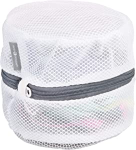 iDesign InterDesign Mesh Laundry Delicates Cleaning-Bras, Underwear-Pack of 2, White Wash Bag (2pc Set), 2 Piece