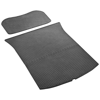 SUMK Tesla Model 3 Trunk Mat and Frunk Mat - All Weather- Heavy Duty - Cargo Liner Black Front Rear Model 3 Frunk Trunk Liner Model 3 (2 Pieces a Set): Automotive