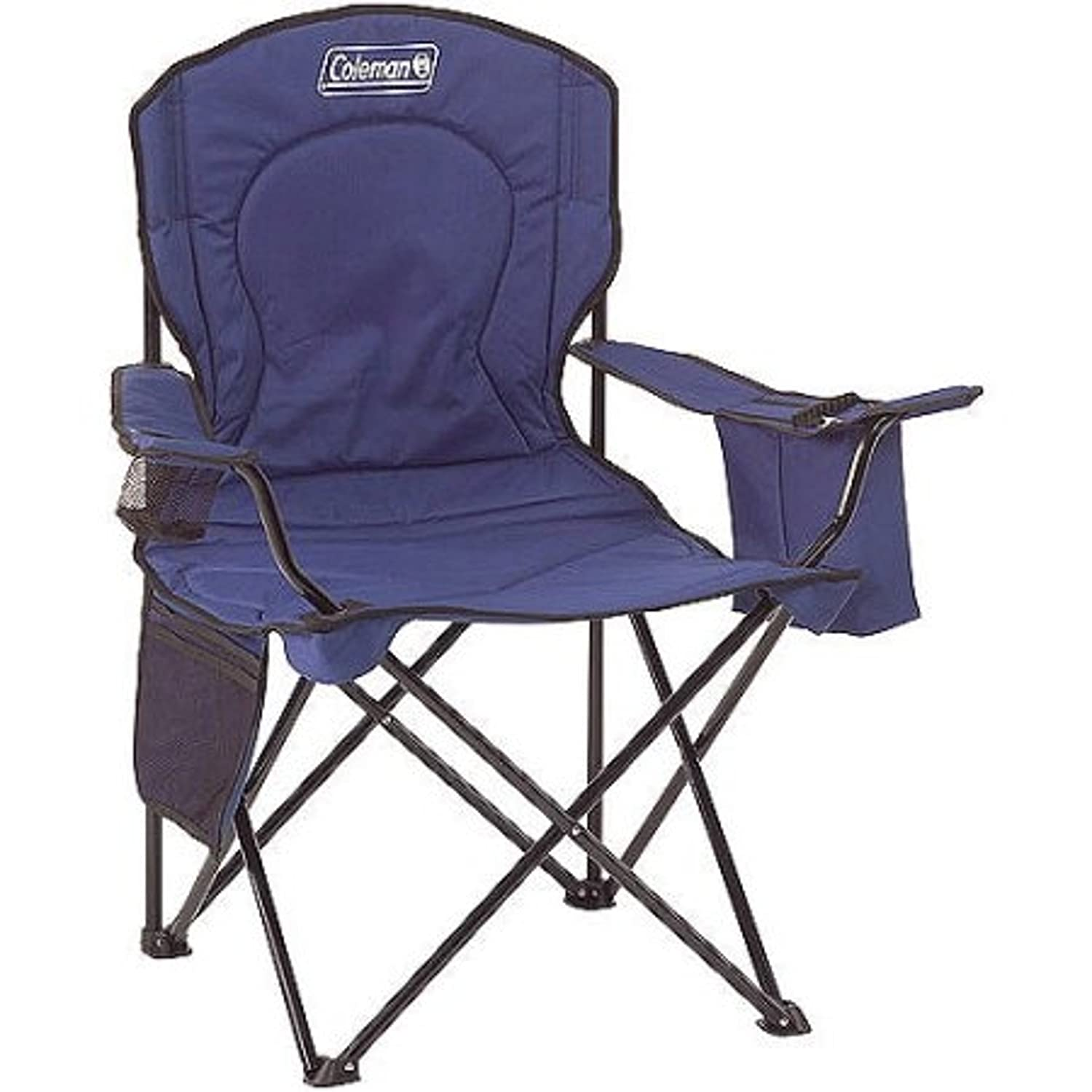 Amazon Oversized Quad Camping Chair with Cooler Pouch Blue