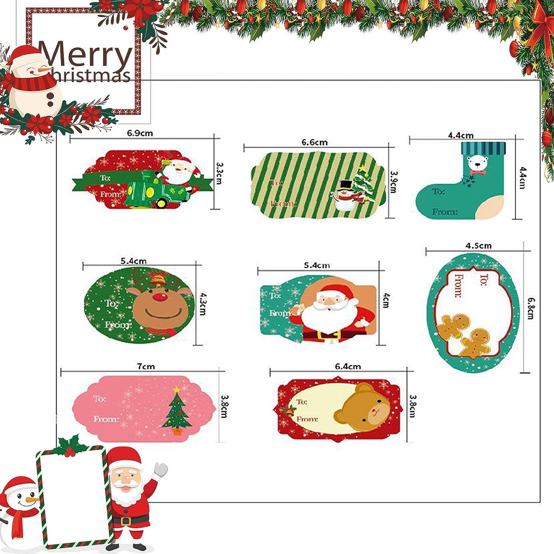Otro Arte de Bricolaje para Cuadernos,Tarjetas de felicitaci/ón 96 pegatinas Decoraci/ón Navide/ña Diario Sellos de Sobres Pegatina Navidad Etiqueta Adhesiva Decoracion