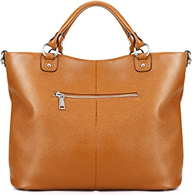 Women's Soft Genuine Leather Tote Bag, Top Satchel Purses and Handbags