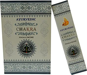 Varillas de incienso Ayurvedic Chakra pack 12 Masala Incense 144 ...