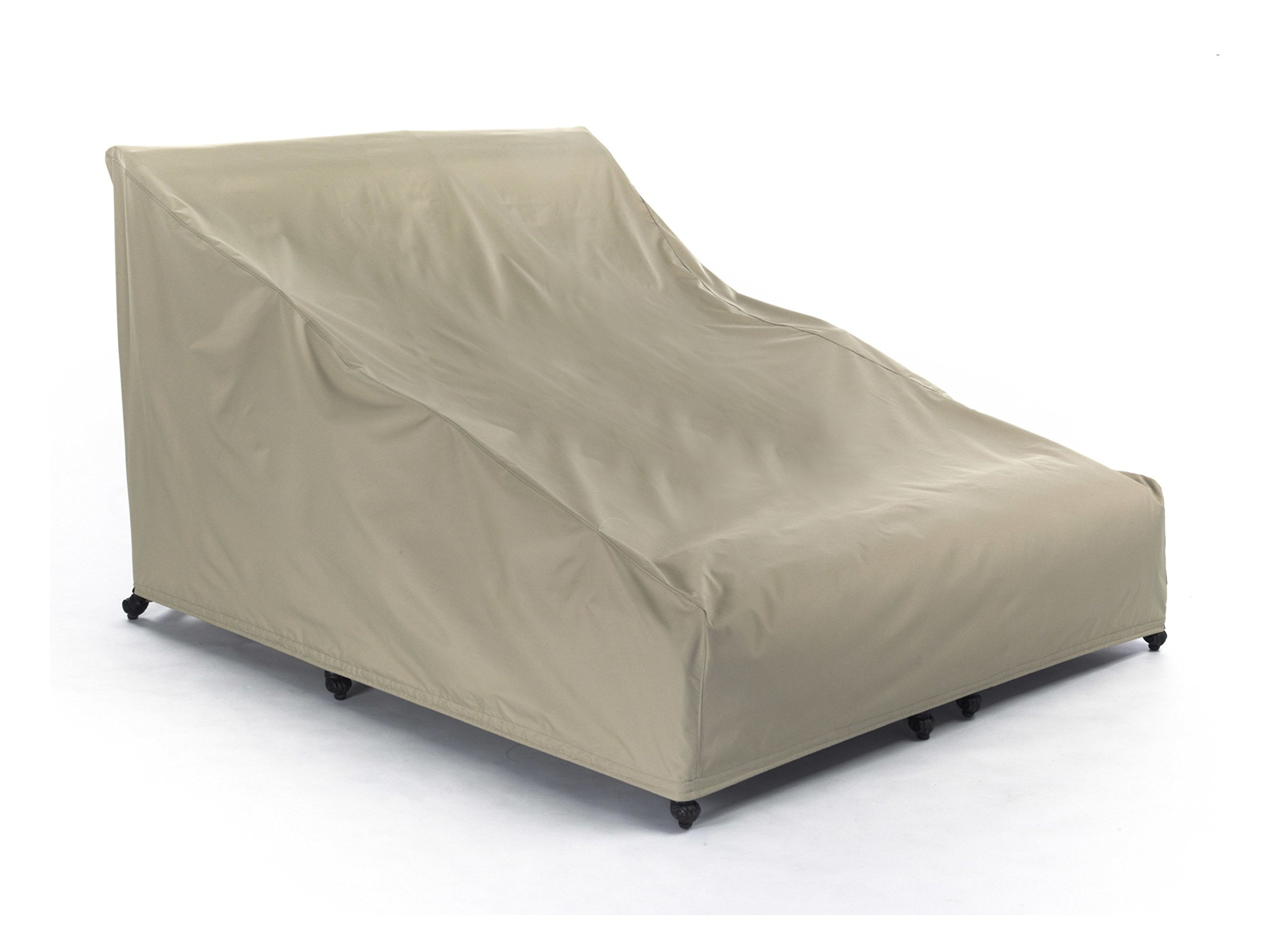 Covermates – Double Chaise Lounge Covers – 58W x 78D x 34H – Elite Collection – 3 YR Warranty – Year Around Protection - Khaki