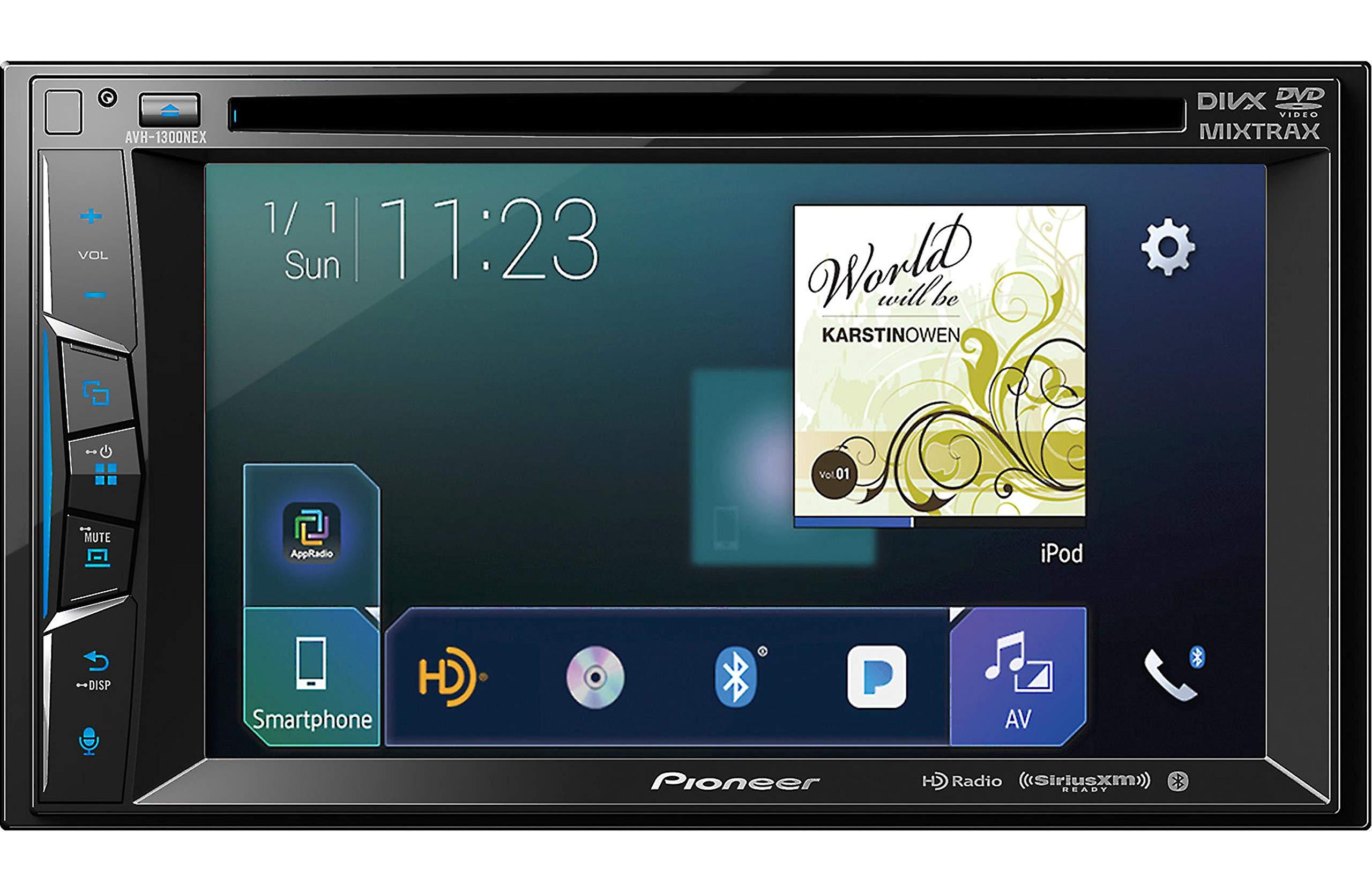 Pioneer AVH-1300NEX Multimedia DVD Receiver with 6.2'' WVGA Display/Apple CarPlay/Built-in Bluetooth/SiriusXM-Ready/AppRadio Mode +