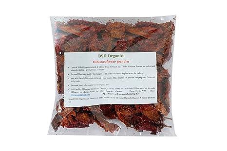 Buy Bsd Organics Edible Hibiscus Granules Dried For Tea Garnishing