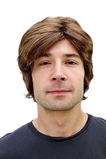 Wig Me Up Pw0174 P6 Herren Perücke Braun Seitenscheitel Kurzhaarig