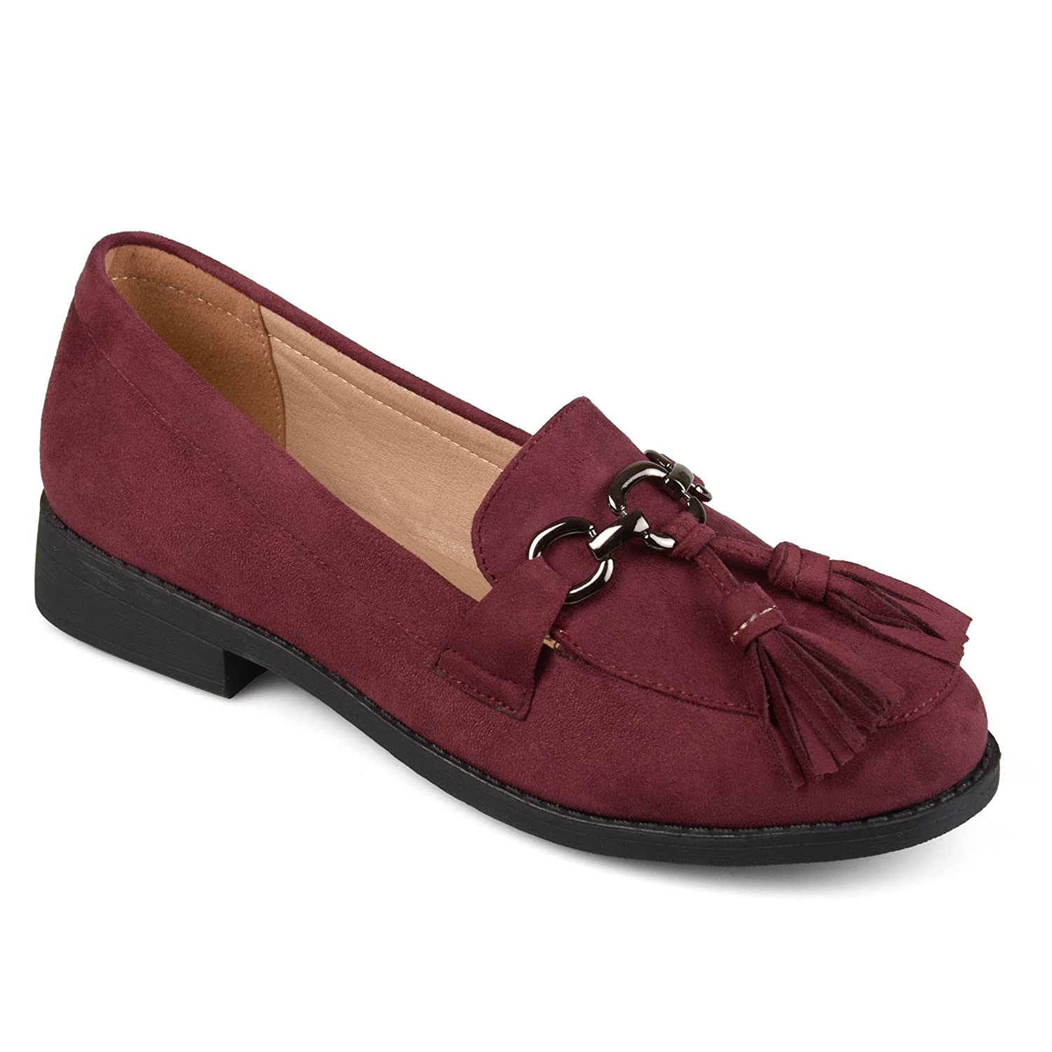 b0e1f4f184d4b Journee Collection Womens Faux Suede Tassel Loafers