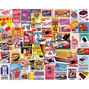 White Mountain Puzzles Vintage Ice Cream Bars - 1000 Piece Puzzle by Artist Charlie Girard