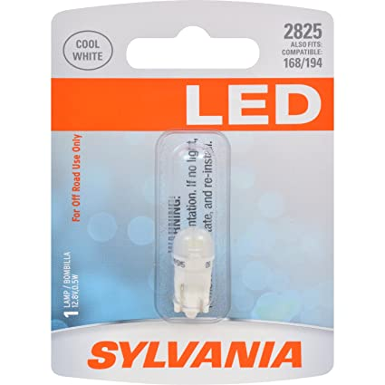 Amazon.com: SYLVANIA 2825 T10 W5W White LED Bulb, (Contains 1 Bulb): Automotive