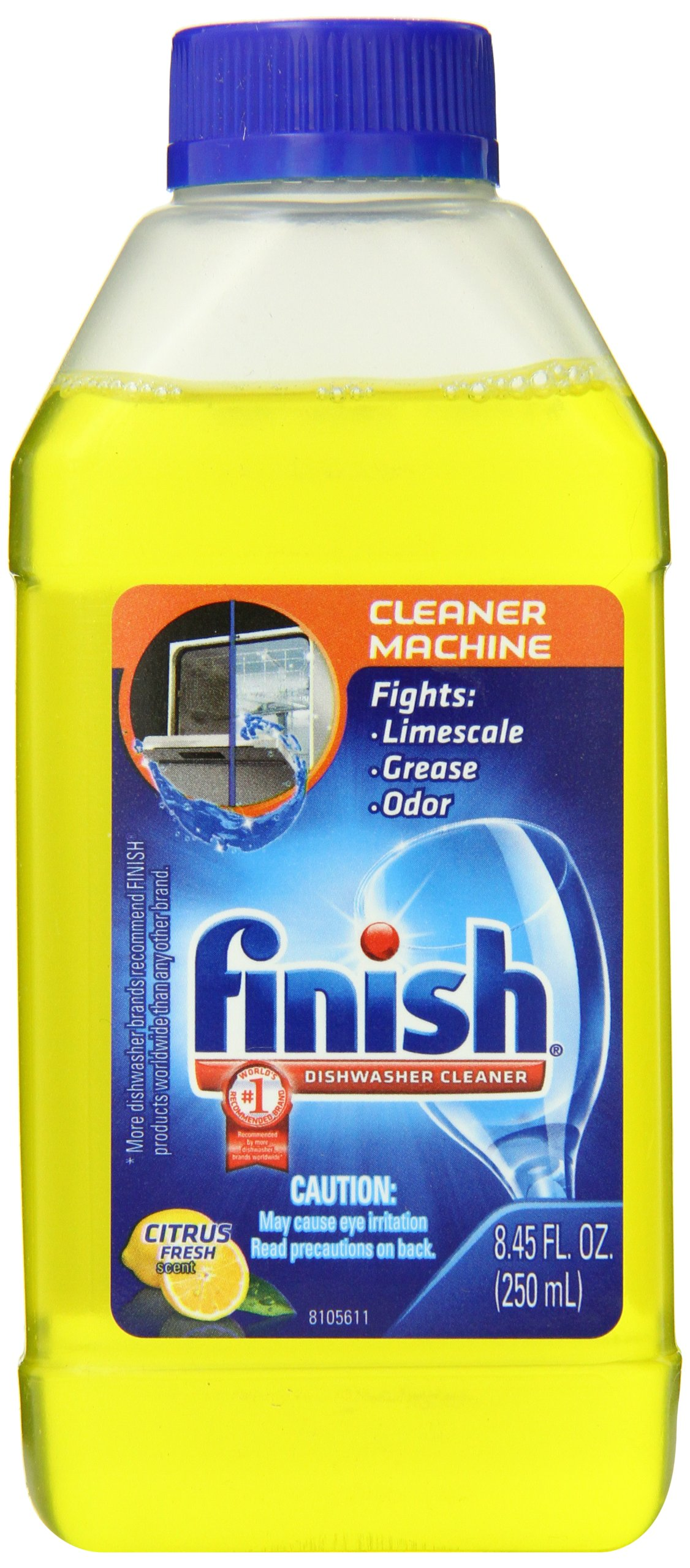 Finish Dishwasher Machine Cleaner, 50.7 fl oz (6 Bottles x 8.45 oz), Dual Action To Fight Grease & Limescale by Finish