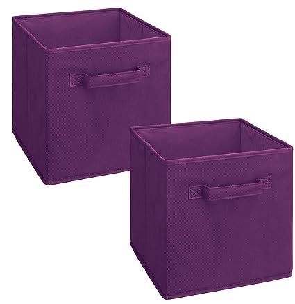 Merveilleux ClosetMaid 11469 Cubeicals Fabric Drawer, Purple, 2 Pack