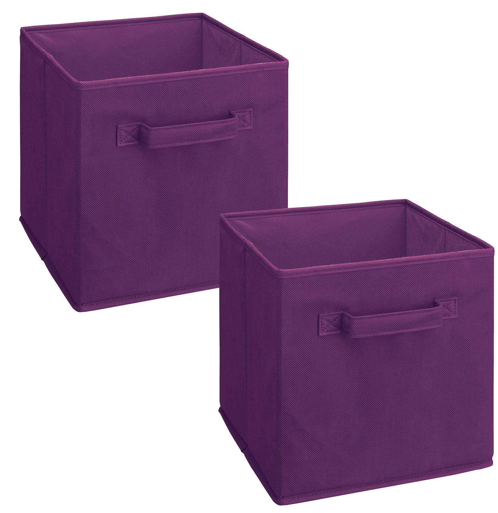 ClosetMaid 11469 Cubeicals Fabric Drawer, Purple, 2-Pack
