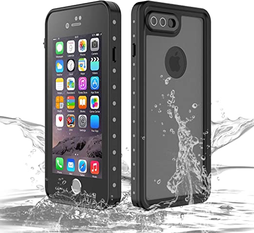 Amazon Com Compatible Iphone 8 Plus Case Waterproof Swimming For Iphone 7 Plus Cases Apple Phone Shockproof Silicone With Screen Protector Full Body Rugged Armor Dustproof Snowproof Protective Cover Black