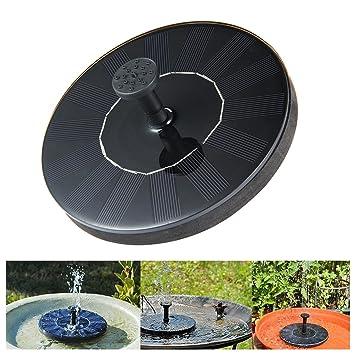 Leegoal Fuente de agua solar, energía solar fuente de agua bombas sumergible kit de panel al aire libre para estanque, piscina, patio, acuario, pecera: ...
