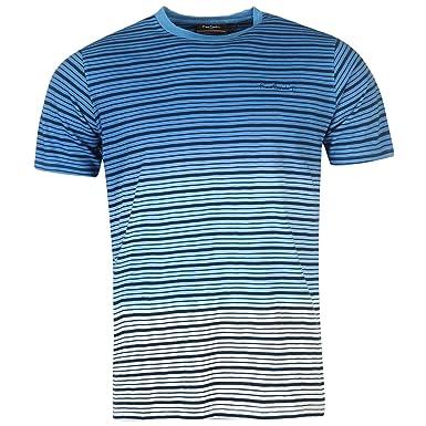 Pierre Cardin Camiseta para Hombre 100% Algodón Manga Corta Cuello ...