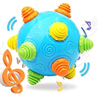 Toddlers Baby Music Shake Ball Toy- VANLINNY Bumble Ball for Babies,Dancing Bumpy & Interactive Sounds Crawl Ball Toy…